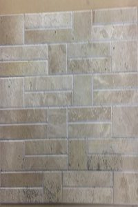 Beveled polished travertine